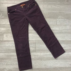 Tory Burch • Purple Straight Leg Corduroy Pants